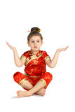 κινεζικό κοστούμι εθνικό Στοκ φωτογραφία με δικαίωμα ελεύθερης χρήσης