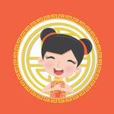 Κινεζικό κοστούμι κοριτσιών παιδιών Στοκ εικόνα με δικαίωμα ελεύθερης χρήσης