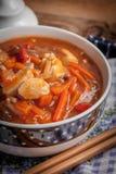 Κινεζικό κοτόπουλο με τα λαχανικά Στοκ φωτογραφία με δικαίωμα ελεύθερης χρήσης