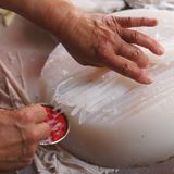 Κινεζικό κρύο πιάτο - ζελατίνα φασολιών Στοκ Εικόνες