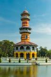 Κινεζικό κτήριο ύφους σε Bangpain Royal Palace, Ayutthaya μέσα Στοκ εικόνες με δικαίωμα ελεύθερης χρήσης