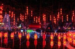 Κινεζικό κόκκινο φεστιβάλ φαναριών την άνοιξη στοκ φωτογραφίες με δικαίωμα ελεύθερης χρήσης