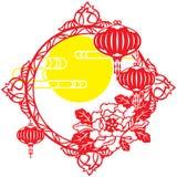 Κινεζικό μέσο φεστιβάλ φθινοπώρου και νέο σχέδιο έτους Στοκ Εικόνες