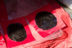 Κινεζικό μαύρο ασβεστοκονίαμα τα μπαλώματα στοκ φωτογραφία με δικαίωμα ελεύθερης χρήσης