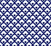 Κινεζικό μπλε πρότυπο Στοκ Φωτογραφία