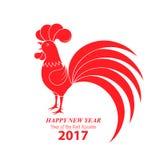 Κινεζικό νέο έτος 2017 Έτος του κόκκορα απεικόνιση αποθεμάτων