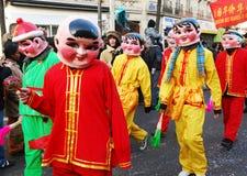 κινεζικό νέο έτος εορτασ&m Στοκ εικόνες με δικαίωμα ελεύθερης χρήσης