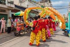 κινεζικό νέο έτος λιονταριών χορού Στοκ Εικόνες