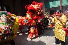 Κινεζικό νέο έτος, ο χορός λιονταριών Στοκ φωτογραφίες με δικαίωμα ελεύθερης χρήσης