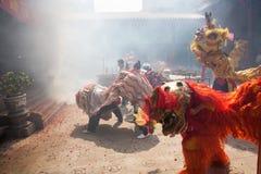Κινεζικό νέο έτος, ο χορός λιονταριών Στοκ Εικόνες