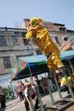Κινεζικό νέο έτος, ο χορός λιονταριών Στοκ εικόνες με δικαίωμα ελεύθερης χρήσης