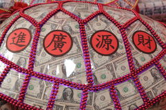 Κινεζικό νέο έτος που ευλογεί στην Ταϊβάν. (χελώνα χρημάτων) Στοκ Εικόνα