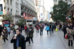 Κινεζικό νέο έτος στη Σαγκάη Στοκ φωτογραφία με δικαίωμα ελεύθερης χρήσης