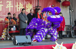 Κινεζικό νέο έτος τελετής έναρξης Στοκ Εικόνες