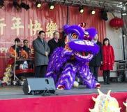Κινεζικό νέο έτος τελετής έναρξης Στοκ φωτογραφίες με δικαίωμα ελεύθερης χρήσης