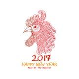 Κινεζικό νέο έτος του κόκκορα Στοκ Φωτογραφία