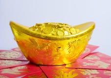 Κινεζικό νέο έτος, χρυσά νομίσματα Στοκ εικόνα με δικαίωμα ελεύθερης χρήσης