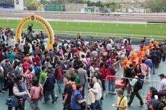 Κινεζικό νέο έτος Raceday στο Χονγκ Κονγκ στοκ φωτογραφία