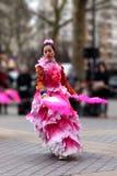 14/02/2018 - Κινεζικό νέο κόμμα έτους στο Παρίσι Στοκ Εικόνες