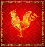 Κινεζικό νέο σύμβολο ωροσκοπίων κοκκόρων έτους 2017 Στοκ Εικόνες