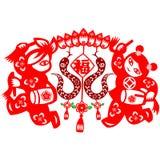 Κινεζικό νέο φίδι έτους Στοκ Εικόνες