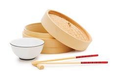 Κινεζικό να δειπνήσει σύνολο που απομονώνεται Στοκ εικόνες με δικαίωμα ελεύθερης χρήσης