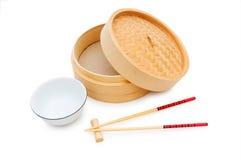 Κινεζικό να δειπνήσει σύνολο που απομονώνεται Στοκ εικόνα με δικαίωμα ελεύθερης χρήσης