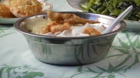 Κινεζικό να δειπνήσει μεσημεριανού γεύματος νουντλς Στοκ φωτογραφία με δικαίωμα ελεύθερης χρήσης