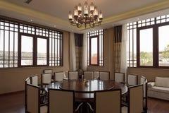 κινεζικό να δειπνήσει δωμάτιο εστιατορίων Στοκ εικόνα με δικαίωμα ελεύθερης χρήσης