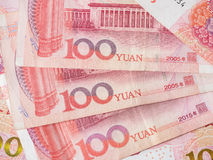 Κινεζικό νόμισμα τραπεζογραμματίων Yuan Στοκ Εικόνες