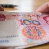 Κινεζικό νόμισμα τραπεζογραμματίων Yuan Στοκ εικόνα με δικαίωμα ελεύθερης χρήσης