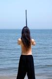 κινεζικό ξίφος ατόμων Στοκ φωτογραφία με δικαίωμα ελεύθερης χρήσης
