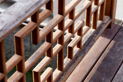 Κινεζικό ξύλινο κιγκλίδωμα, σχέδιο ραμπών στοκ φωτογραφία