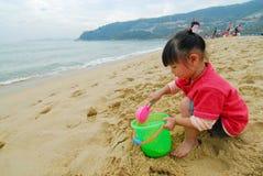 κινεζικό παιχνίδι παιδιών παραλιών Στοκ εικόνες με δικαίωμα ελεύθερης χρήσης