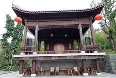 Κινεζικό παλαιό στάδιο Στοκ Εικόνες