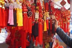 Κινεζικό παραδοσιακό εορταστικό κρεμαστό κόσμημα Στοκ φωτογραφίες με δικαίωμα ελεύθερης χρήσης