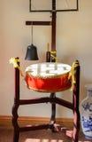 Κινεζικό παραδοσιακό ξύλινο τύμπανο Στοκ Φωτογραφίες