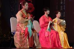 Κινεζικό παραδοσιακό παιχνίδι οργάνων Στοκ Εικόνες