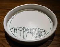 Κινεζικό πιάτο πορσελάνης τέχνης στοκ φωτογραφία με δικαίωμα ελεύθερης χρήσης