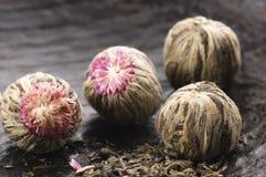 κινεζικό πράσινο τσάι σφαι& Στοκ Εικόνα