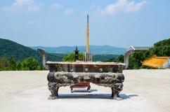 Κινεζικό πλίνθωμα λατρείας Στοκ εικόνα με δικαίωμα ελεύθερης χρήσης