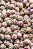 Κινεζικό πλεκτό τσάι lychee με το κόκκινο δαμάσκηνο Στοκ Φωτογραφία
