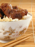 κινεζικό ρύζι χοιρινού κρέ&alph Στοκ Φωτογραφία