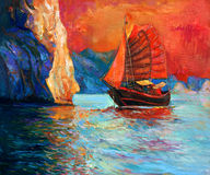 Κινεζικό σκάφος Στοκ Φωτογραφία