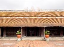 Κινεζικό σχέδιο αρχιτεκτονικής ύφους του ιστορικού αρχαίου βιετναμέζικου ΑΠΑΓΟΡΕΥΜΕΝΟΥ αυτοκράτορας ΠΑΛΑΤΙΟΥ Στοκ φωτογραφία με δικαίωμα ελεύθερης χρήσης