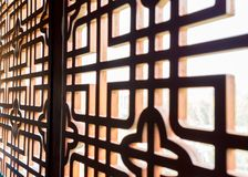 Κινεζικό σχέδιο παραθύρων Στοκ εικόνα με δικαίωμα ελεύθερης χρήσης