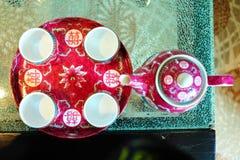 Κινεζικό σύνολο φλυτζανιών τσαγιού Στοκ Φωτογραφίες