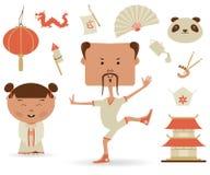 Κινεζικό σύνολο διανυσματική απεικόνιση