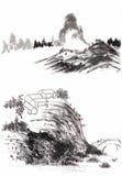 Κινεζικό τοπίο ζωγραφικής Στοκ Φωτογραφίες