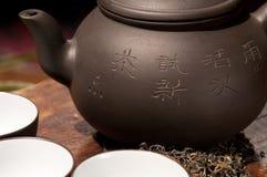 κινεζικό τσάι δοχείων φλ&upsilo Στοκ Εικόνα